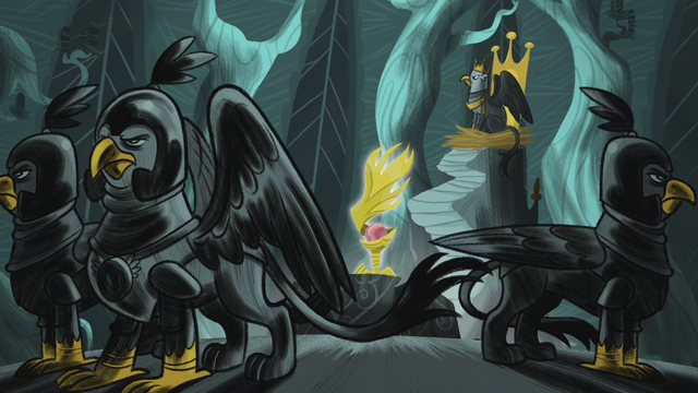 File:King Guto, the guards, and the Idol of Boreas S5E8.png