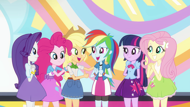 File:Main 5 complimenting Rainbow Dash EG2.png
