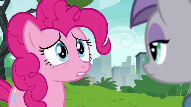 File:Pinkie Pie about to spill the beans S6E3.png