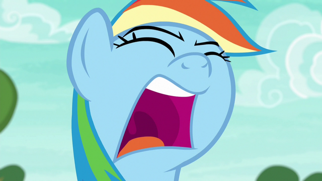 "File:Rainbow Dash shouts ""come on!"" again S6E18.png"