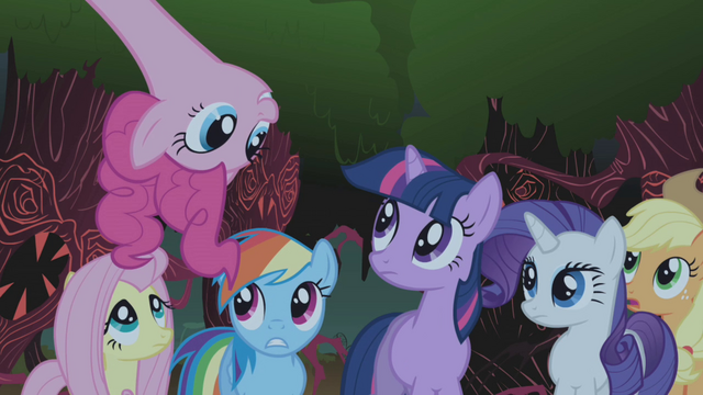 File:Pinkie Pie singing Everfree Forest 2 S1E02.png