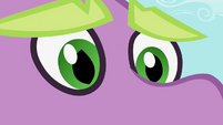 Spike's eyes soften when he sees the ruby S2E10