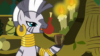 Zecora with an empty cup S3E05