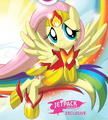 Comic issue 1 Superhero Fluttershy.png