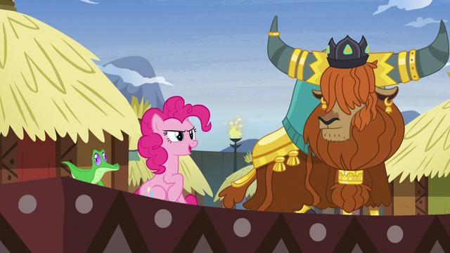 "File:Pinkie Pie ""pink pony like yak story!"" S7E11.png"