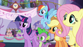 Pinkie runs off while others listen to Rarity S5E14.png