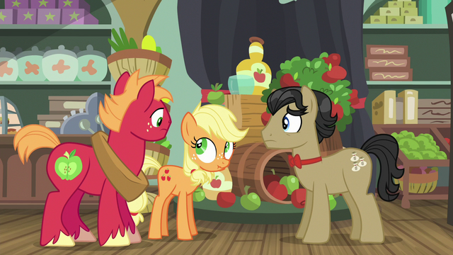 File:Young Applejack makes her first scrunchy face S6E23.png
