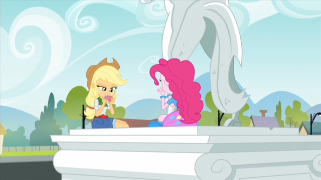 File:Applejack and Pinkie playing cards EG2.png