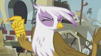 Gilda wipes her tears away S5E8