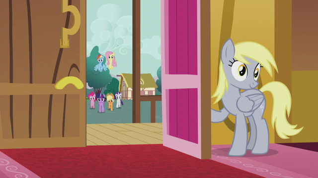 File:Mane Six galloping toward town hall S5E9.png