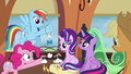 Pinkie Pie touching the mobile S6E1.png