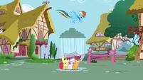 Rainbow Dash pouring rain S2E23