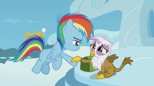 File:Young Rainbow extends a hoof to Gilda S5E8.png