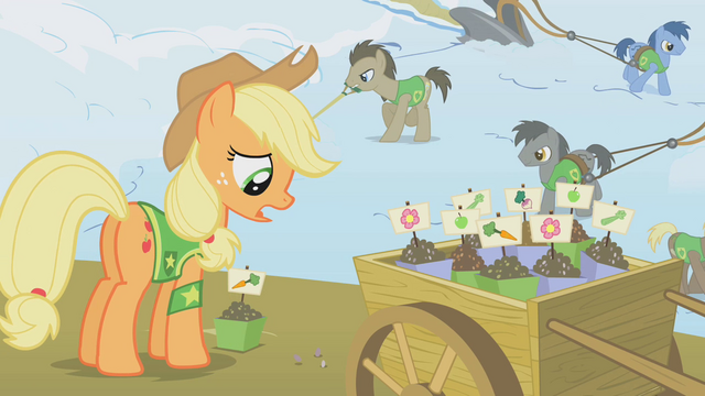 File:Applejack and seed cart S1E11.png