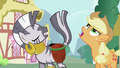 Applejack nudging Zecora's tail S2E06.png