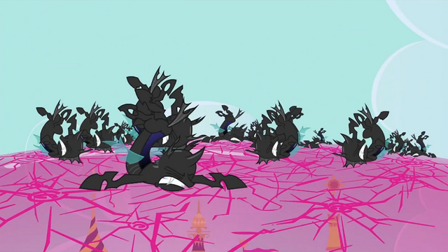 File:Changelings smashing the shield 2 S2E26.png