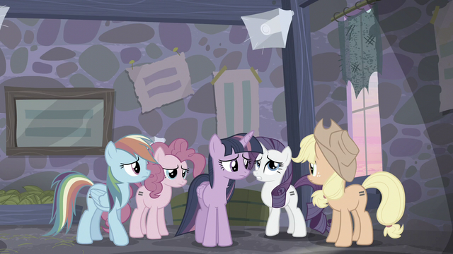 "File:Rarity ""Let's hope they don't convert any of us first"" S5E02.png"