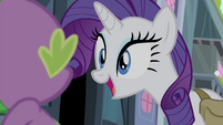 "Rarity ""Won't that be a fun little secret"" S4E23"