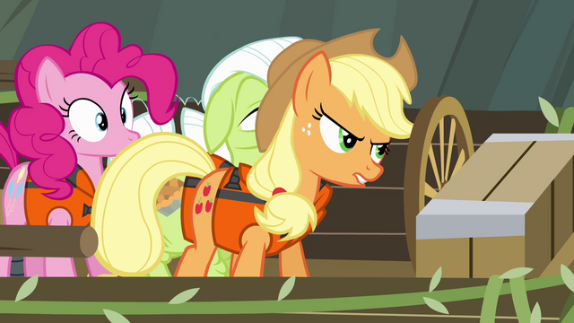 File:Applejack tries to take over steering S4E09.png
