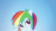 Rainbow Dash sprouts pony ears EG
