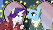 Rarity pointing at Wind Rider S5E15