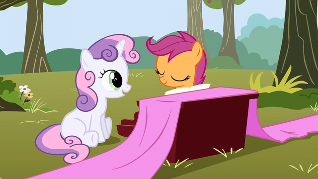 File:Sweetie Belle sitting whilst happy S1E18.png