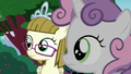 Zipporwhill and Sweetie Belle hear Rarity's voice S7E6.png