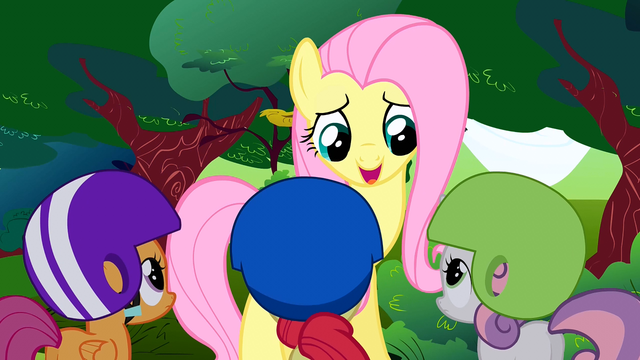 File:Fluttershy talks to the CMC S1E23.png