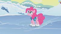 Pinkie Pie standing on ice S1E11