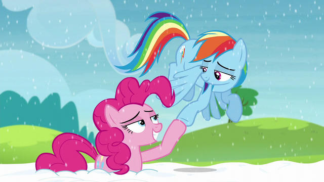 File:Pinkie and Rainbow hoof-bump S5E11.png