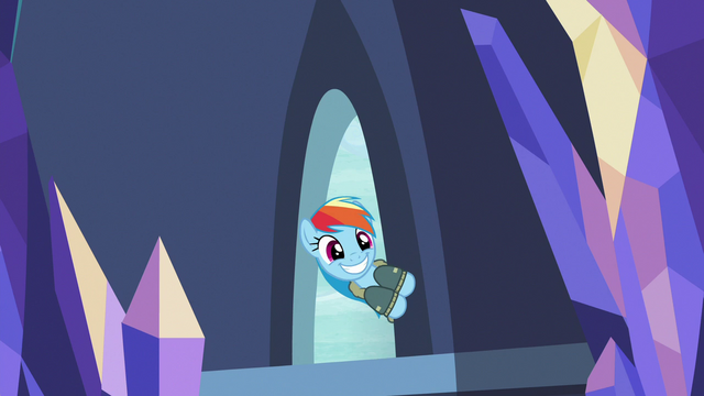 File:Rainbow Dash enters the castle with a wide grin S6E24.png