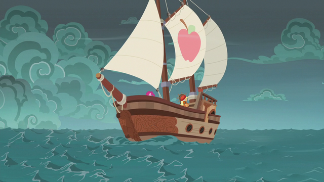 File:The ponies' ship sails into stormy weather S6E22.png