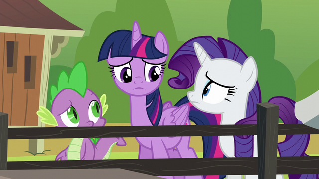 File:Twilight, Rarity, and Spike confused S6E10.png