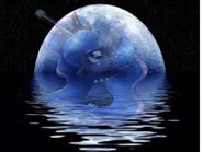 FANMADE Luna in moon near water