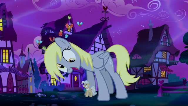 File:Giant Derpy meowing at Mayor Mare S5E13.png