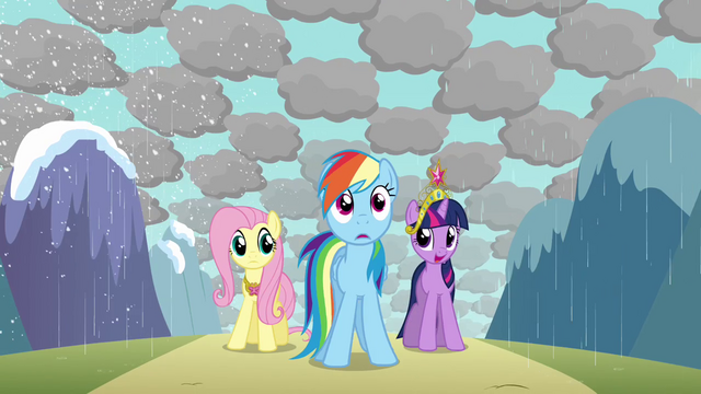 File:Rainbow Dash shocked by messy weather S03E13.png