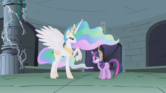 File:Celestia talking to Twilight in the ruins S1E2.png