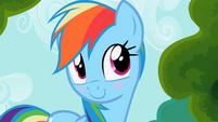 Rainbow Dash blushes S2E08