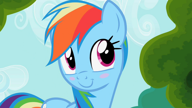 File:Rainbow Dash blushes S2E08.png