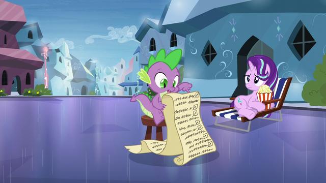 """File:Spike """"deal with your fears by facing them"""" S6E1.png"""