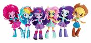 Equestria Girls Minis Mane Six lineup