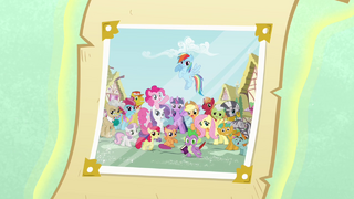 Photograph with Ponyville citizens opening