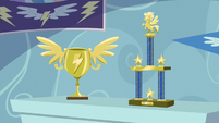 Rainbow Dash's Wonderbolts trophies S5E3