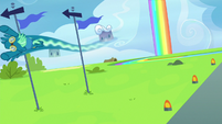 Sky Stinger swerves around flagpoles S6E24