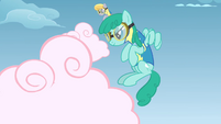 Sprinkle Medley and Cloud Kicker about to kick clouds S3E7