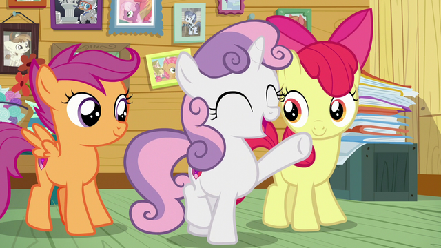 """File:Sweetie Belle """"you have the CMC guarantee!"""" S7E6.png"""