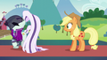 Countess Coloratura angrily walks away from Applejack S5E24.png