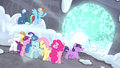 Mane Six shield their eyes S5E02.png