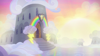 Wonderbolts' barracks at sunrise S6E7