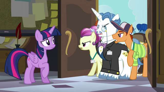 File:Angry mob complaining to Twilight S5E10.png
